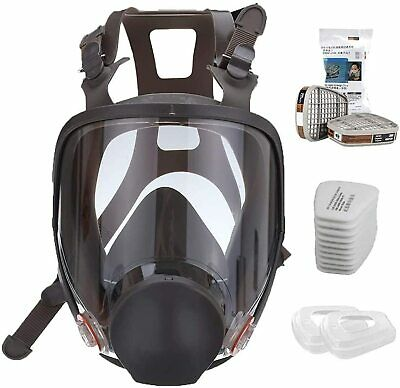15 In 1 Full Face Gas Mask Respirator Painting Spraying For 6800 Facepiece