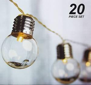 20 Piece LED Clear Festoon / Party String Light Kit - Connectable Northmead Parramatta Area Preview