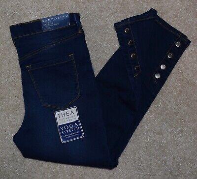 New Bandolino Jeans Sz 6 Thea Crop Legging High Waist Stretch Denim -
