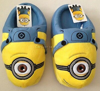 Despicable Me Minion Men Women Adult Slippers Shoes US size 5-9, UK 3-7 - Despicable Me Adult Slippers