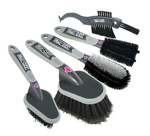 Muc Off Five Brush Set Great For Bike Motorbike Car Cleaning Washing & Valeting