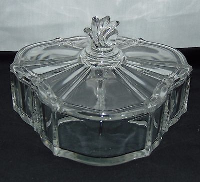 Fostoria BAROQUE CRYSTAL *3 PART CANDY BOX W/COVER*