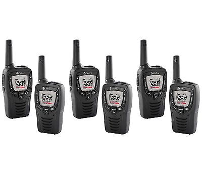 (6) Cobra Cx312 23 Mile 22 Channel Frs/gmrs Walkie Talkie...