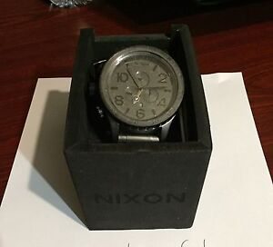 Nixon 51-30 black / Matt black watch Woodvale Joondalup Area Preview
