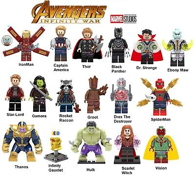 Infinity War Minifigures Set of 16 Plus Infinity Gaunlet (Compatible with lego)