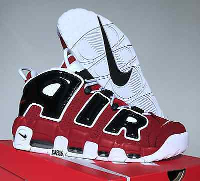 NIKE AIR MORE UPTEMPO '96 Red Black Asia Hoop 921948 600 Chicago Bulls Pippen