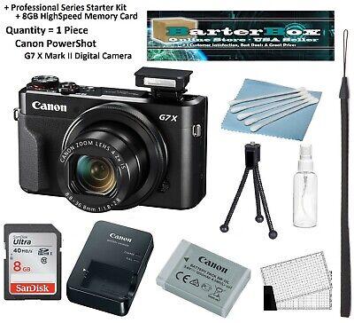Sale Canon Powershot G7 X Mark II / G7x M2 Digital Camera + Memory + Pro. Kit ()