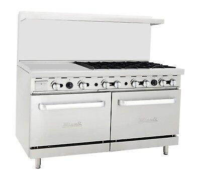 Migali C-ro6-24gl 6 Burner Range Oven With 24 Griddle Natural Gas