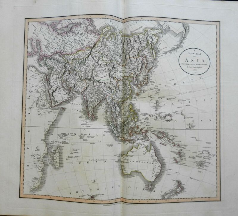 Asian Continent Ottoman Empire Arabia China India Japan 1806 Cary folio map