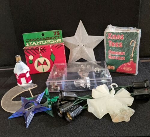 Vintage Ornament Caps, Hook boxes, Accessory and Assorted pieces USA, Poland