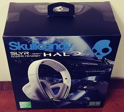 Skullcandy Slyr Gaming Headset   Gmx 1 Amp   Xbox One   Halo Edition   Brand New