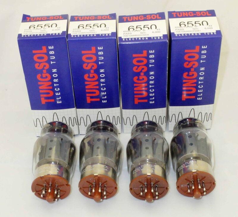 Tung-Sol Factory Platinum Matched QUAD 6550 Reissue amp tubes NIB 24hr Burn-in