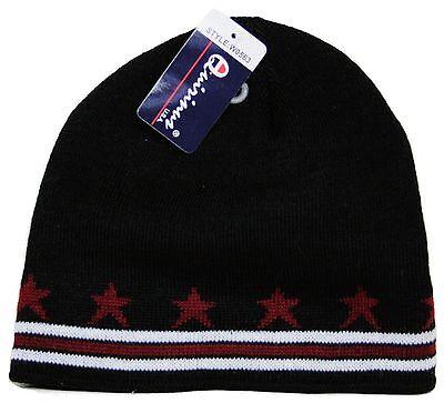 Stars Black Beanie - Winter Beanie Black With Stars And Line Uncuffed Knit Beanie Skull Cap Hat