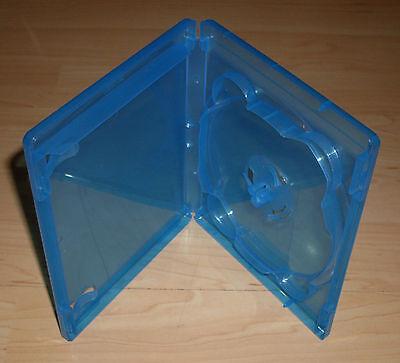 Blu Ray Hülle Einfach 1fach 1-fach blau für bis zu 7 BluRays Blue Ray 15mm Neu