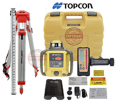 Topcon Rl-h4c Rb Rechargeable Self-leveling Rotary Grade Laser Level Inch