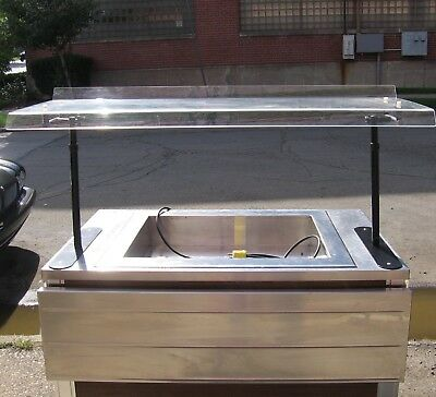 Refrigerated Serving Bar Cold Table Ice Salad Shrimp etc with tray plate Casters