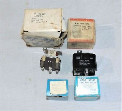 Assorted Hvac Lot Furnace Relays Coils Etc See Photos For Parts Numbers
