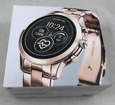 Michael Kors  MKT5054 Runway Heart Rate Rose Gold Smart Watch Set MSRP$425