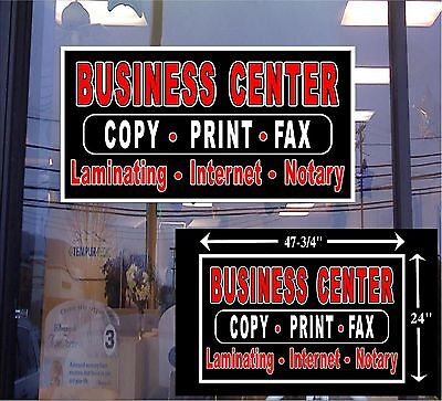 Led Sign Business Center Copy Fax Print 48x24 Window Sign Neon Banner Altern.