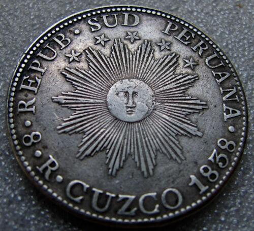 1838 8 Reales Cuzco Peru