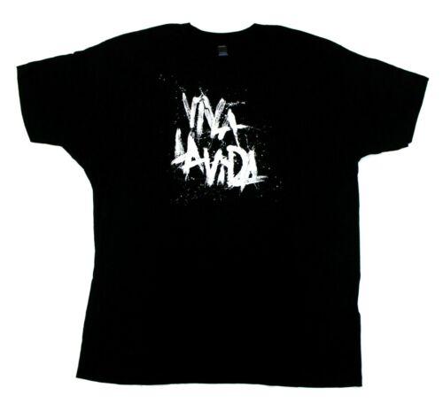 Coldplay Tultex Viva La Vida Logo Concert Tour T-Shirt - Black - XL