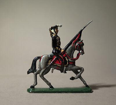6989:RITTER Zinnfigur,uniformierter Reiter,Nr.507,bemalt,aus Sammlung.