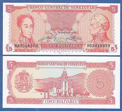 Venezuela 5 Bolivares P 70B 1989 Unc Low Shipping  Combine Free  8 Digit Seial