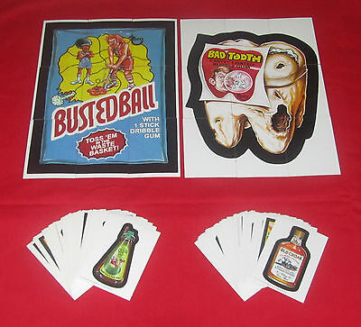 WACKY PACKAGES OLD SCHOOL 1 & 2 COMPLETE SETS & PUZZLES    PACK FRESH