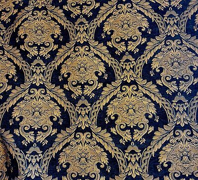 (Chenille Renaissance damask Home Decor Upholstery, Sold By the Yard, 58