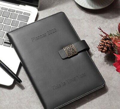 Premium 2020 Planner Daily Monthly Planner Pu Leather Diary Agenda A5 Organizer