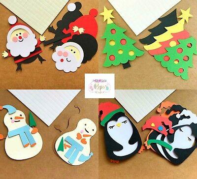 3D Christmas Topper Kit x 10  Santa Penguin Snowman Xmas Tree Card Making Crafts