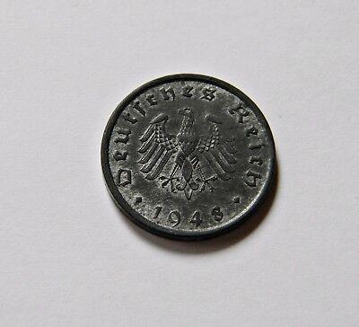 ALLIIERTE BESATZUNG: 10 Reichspfennig 1948 A, J. 375, stempelglanz, MÜNZGLANZ !!