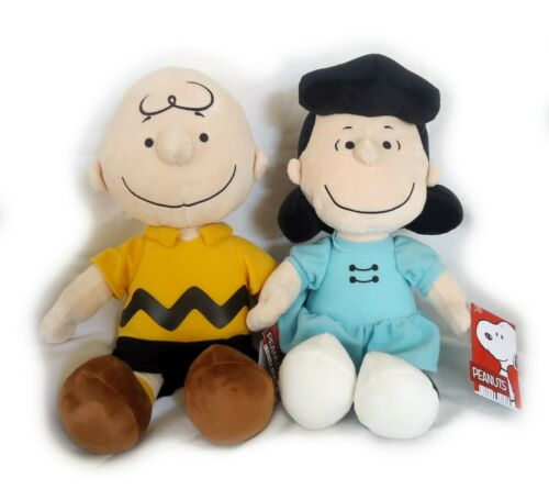 NWT Peanuts Gang, Charlie Brown and Lucy Plushes, Set of 2