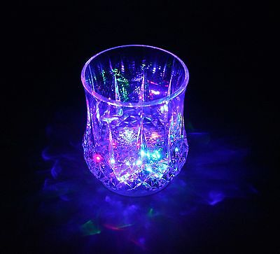 Light Up Drink Glass Cup Flashing Cup Blinking LED Cup Whisky Glass Glowing Cup (Glow Drinking Glasses)