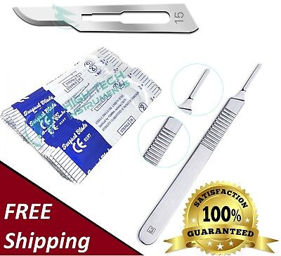 10 Scalpel Blades 15 Includes 3 Metal Handle Suitable For Dermaplaning Crafts