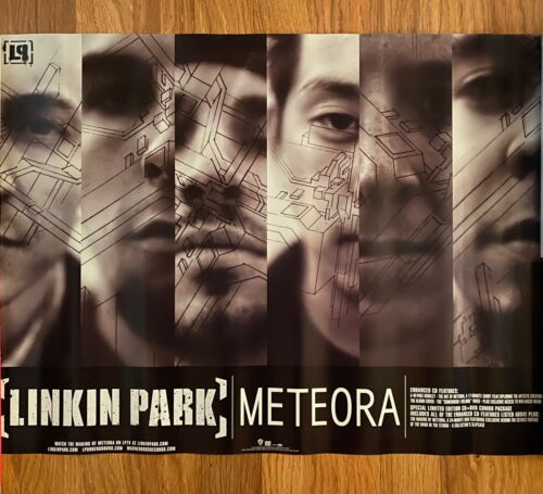 "Linkin Park ""METEORA"" Album, 2-sided promo poster, 2003"