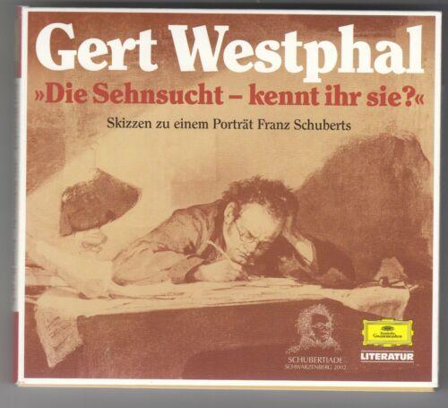 Doppel-CD Gert WESTPHAL - Porträt Franz SCHUBERT Schubertiade 2002 Schwarzenberg