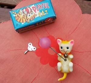 Vintage Wind Up Cat Kitten Toy