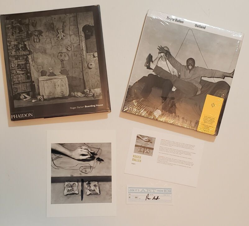 """SIGNED Roger Ballen """"Boarding House"""" & """"Outland"""" Book & Lt Ed Photographic Print"""