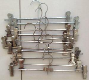 11 pcs skirt/pants metal hangers with width adjustable clips Bonython Tuggeranong Preview