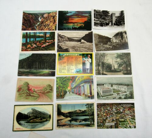 85 Postcards lot antique 1910s 1920s 1930s divided undivided rppc linen litho