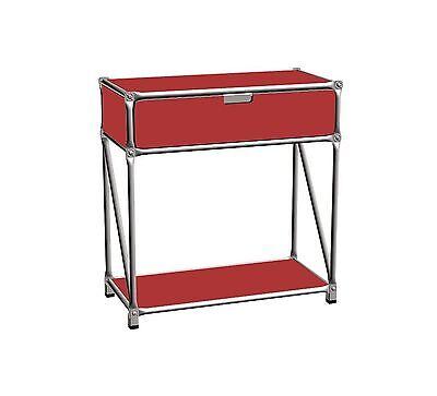 System 180 Sideboard Regal Kommode Rot Edelstahl Breite 75 cm 1 Schublade online kaufen