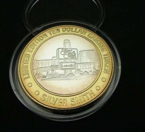 Silver Smith Casino 1995 Wendover NV $10 Building .999 Silver Strike Token GDC