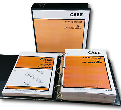 Case W11 Wheel Loader Pay Loader Service Repair Manual Parts Catalog Shop Book