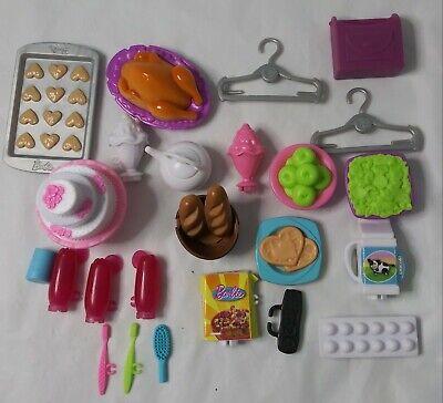 Mattel Barbie Dream House 2015 Parts Pieces Replacement Kitchen Food Hangers Lot