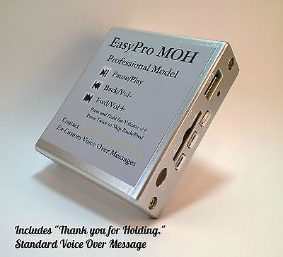 Music-on-Hold Plus Message MOH Player for Phone System PBX Key USB SD w/Remote
