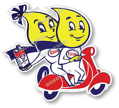 ESSO GASOLINE TWINS SUPER HIGH GLOSS OUTDOOR 4 INCH DECAL STICKER