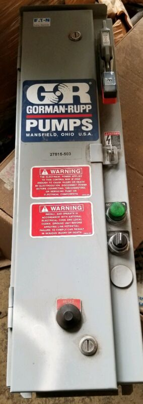 Cutler Hammer Gorman Rupp Combination Starter Pump Controller (New/Surplus)