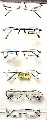 25 EYEGLASS FRAMES WITH CLEAR LENS MFRS SAMPLES UNISEX ALL (All Glass Frames)