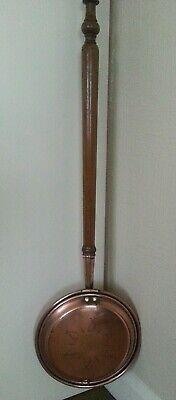 Antique copper bedwarmer